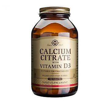 Solgar Calcium Citrate with Vitamin D Tablets 240 (432)