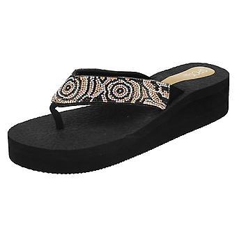 Ladies spot på casual Wedge flip flops