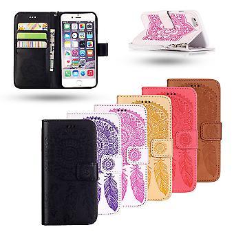 Iphone 5 / 5s/ Se Läder - Läderfodral/plånbok - Drömfångare