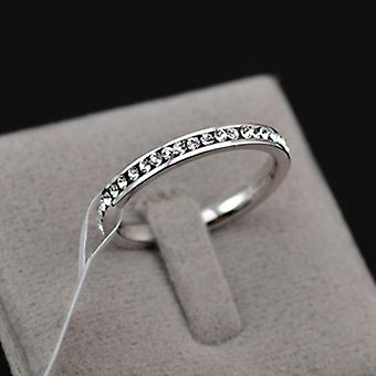 18K White Gold Plated Eternity Band
