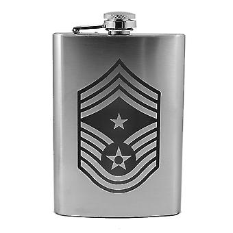 8oz air force rank - command chief master sergeant - flask l1