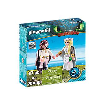 Playmobil DreamWorks Dragons Astrid and Hiccup 17PC Playset