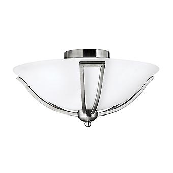 Bolla Contemporary Ceiling Light with Etched Opal Glass Shade