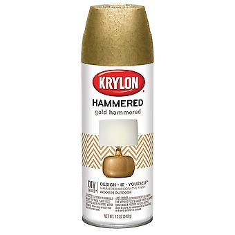 Hammered Finish Paint 12oz-Gold HF-3902