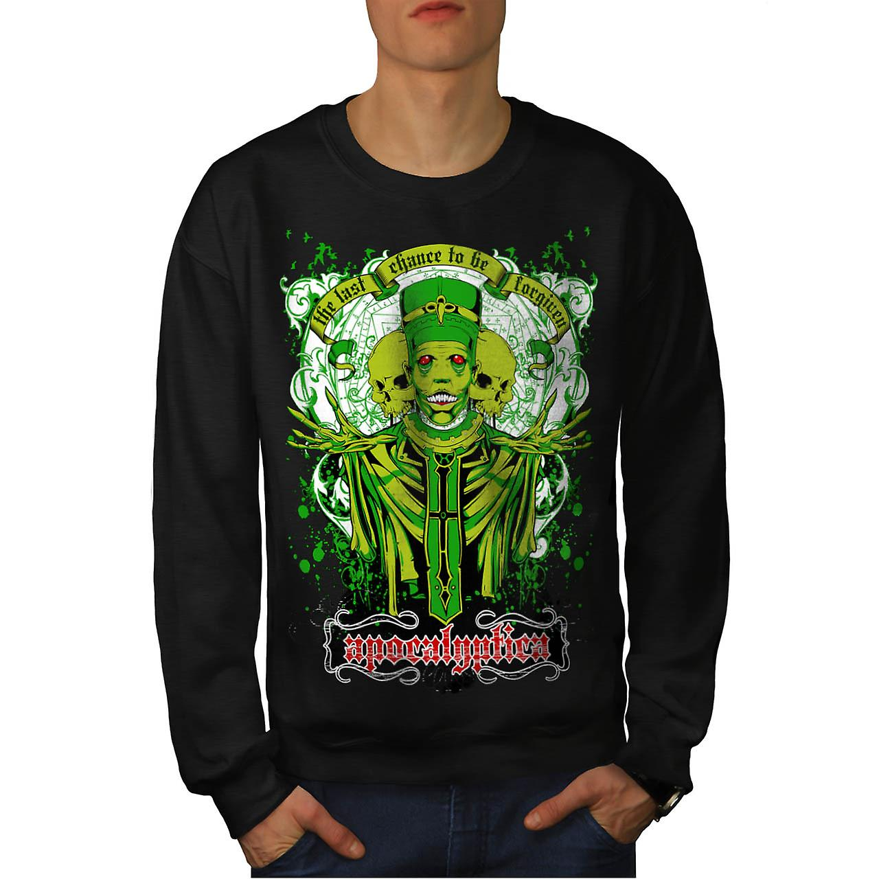 Forgiven Apocalypse Evil Belief Men Black Sweatshirt | Wellcoda