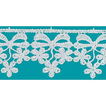 Daisy Bow Edge Venice Lace Trim 1-1/4
