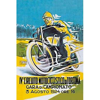4th Motorcycle Circuit of Tortona Poster Print by Unknown