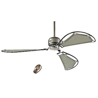 "Ceiling fan AVALON 158 cm / 62"" brushed chrome"