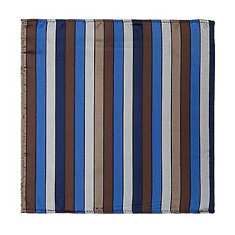 Marcell Sanders handkerchief blue silk striped Einstecktücher
