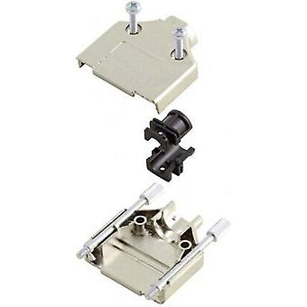 D-SUB housing Number of pins: 15 Plastic, metallised 180 ° Silver MH Connectors MHDTPK-15-K 1 pc(s)