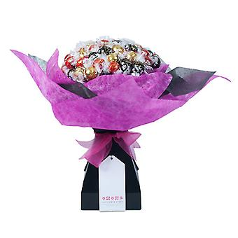 Madres día Chocolate Bouquet - rosa Chic - Extra grande