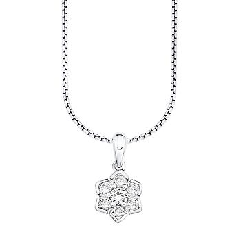 s.Oliver jewel ladies necklace Zyrkonia flower SO1226/1 - 9081301