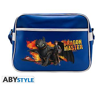 Abysse Dragons Messenger Bag Hiccup & Toothless Blue Vinyle