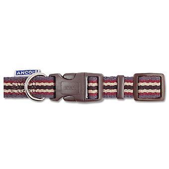 Indulgence Cotton Adjustable Collar Damson Stripe 45-70cm Sz 5-9