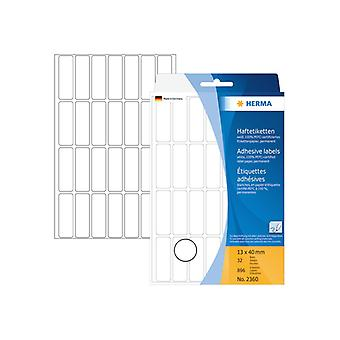 Manual Labels Herma 13x40 white