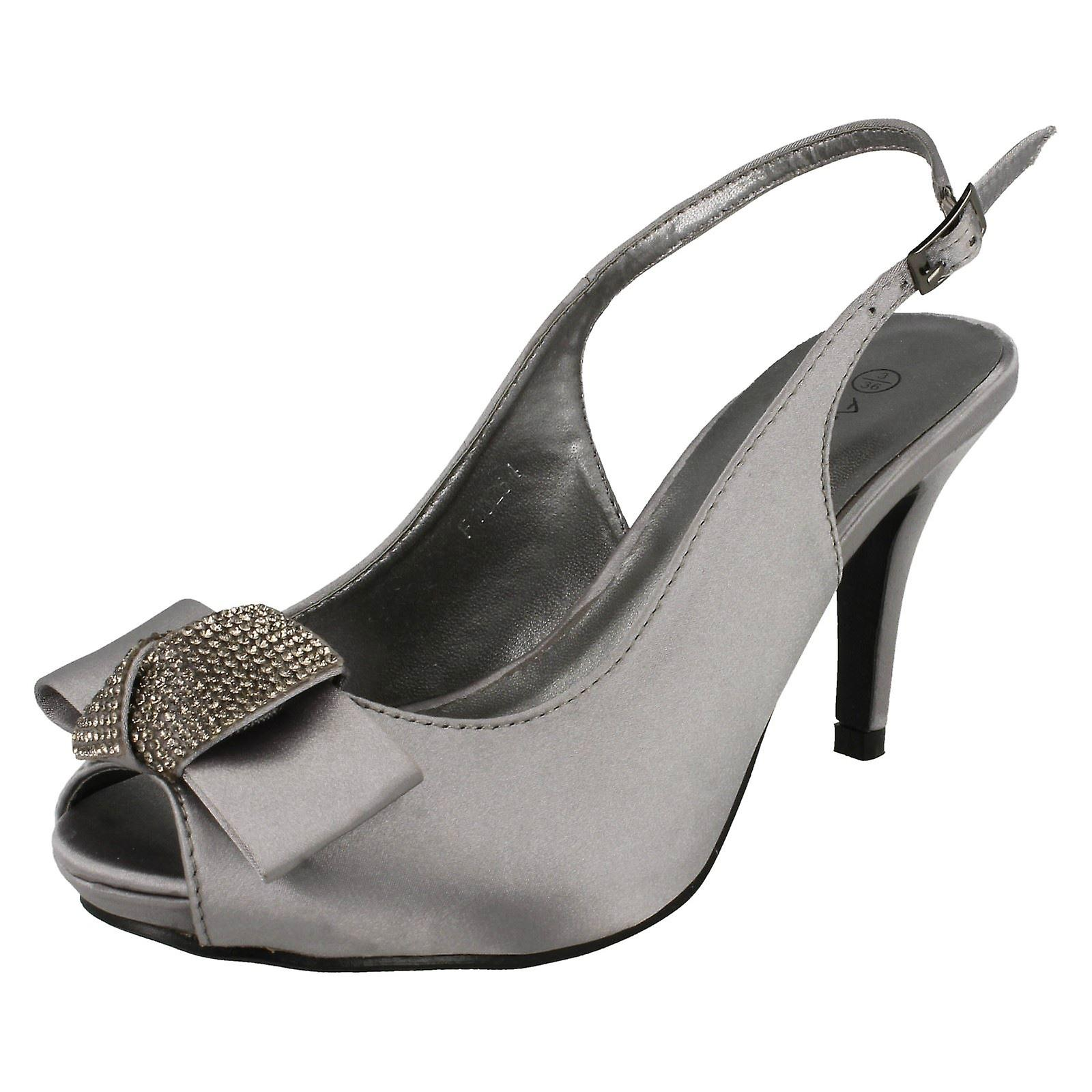 Scarpe donna Anne Michelle Peep Toe Diamante Bow Corte F10254