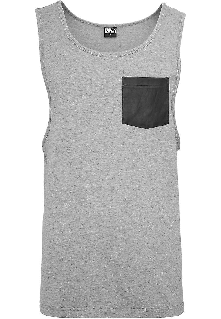 Urban classics men's leather imitation Pocket loose tank top