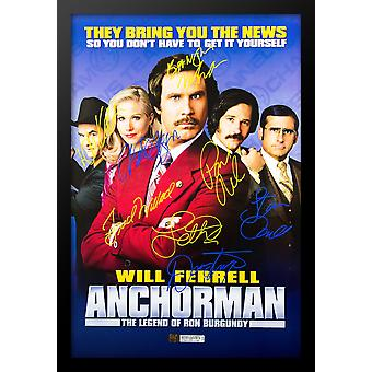 Anchorman - signerade filmaffisch
