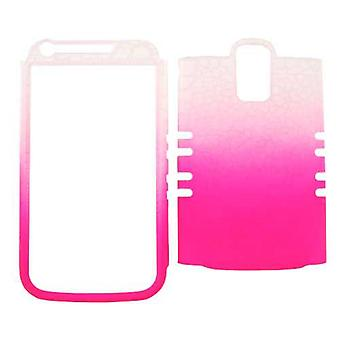 Unlimited Cellular Rocker Snap-On Case for Samsung Galaxy S2 Hercules T989 - Leather Fiinish White / Pink Egg Crack