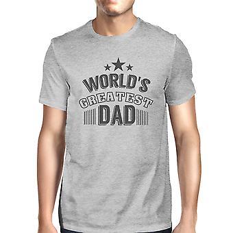 World's Greatest Dad Mens Cotton Graphic Tee Unique Design T-Shirt