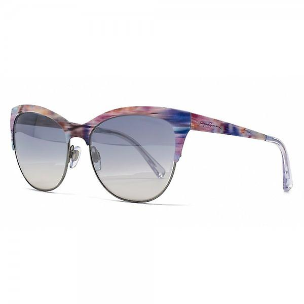 Giorgio Armani Metal Cateye Sunglasses In Gunmetal Foulard