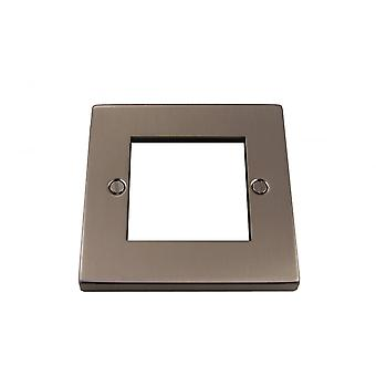 Causeway 1 Gang Double Modular Plate, Satin Chrome