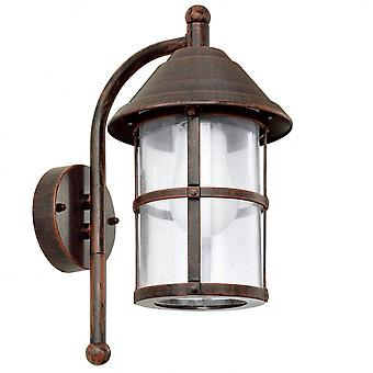 Eglo San Telmo 1 Light Traditional Outdoor Wall Light Antique Br