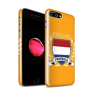 STUFF4 glans terug Snap-On telefoon Hardcase voor de Apple iPhone 7 Plus / Nederland/Nederlands Design / voetbal embleem collectie