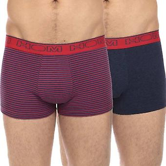 HOM Boxerlines Boxer Brief 2-Pack, Flame, Large