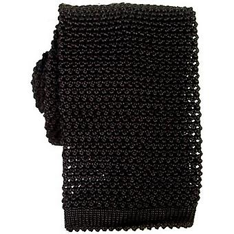 KJ Beckett Knitted Silk Tie - Black