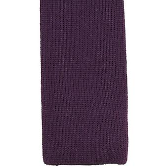 KJ Beckett Plain Wool Tie - Deep Purple