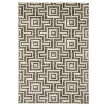 In - and outdoor carpet balcony / living-room maze grey natural, 200 x 285 cm