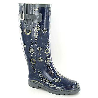 Spot On Womens/Ladies Circle Pattern Rubber Wellington Boots