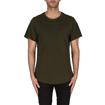 Godfather Pima Men's Long T-shirt In Forrest Green