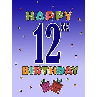 CJ1103GF сокровища Каролинских, счастливый день рождения 12 флага сад размер
