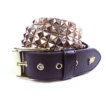 Lowlife Triple S Studded Leather Belt