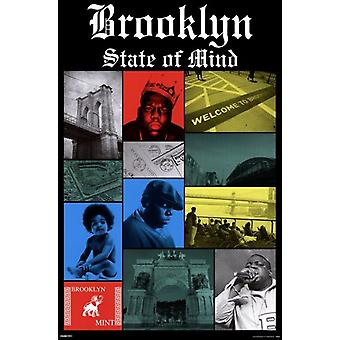 Notorious BIG - Brooklyn stato Poster Poster Print