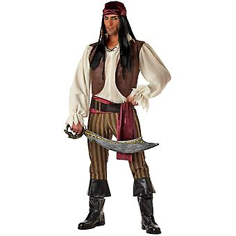 Rogue Pirate of Caribbean Buccaneer Men Costume