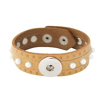 Leather Bracelet For Click Buttons Kb0837