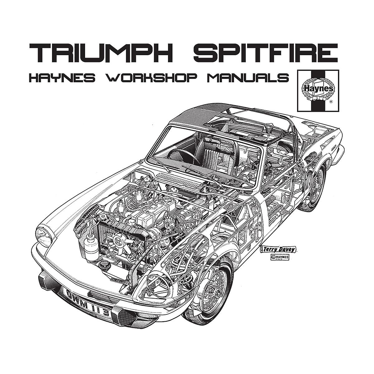 Haynes Owners Workshop Manual 0113 Triumph Spitfire Black Men's Baseball Long Sleeved T-Shirt
