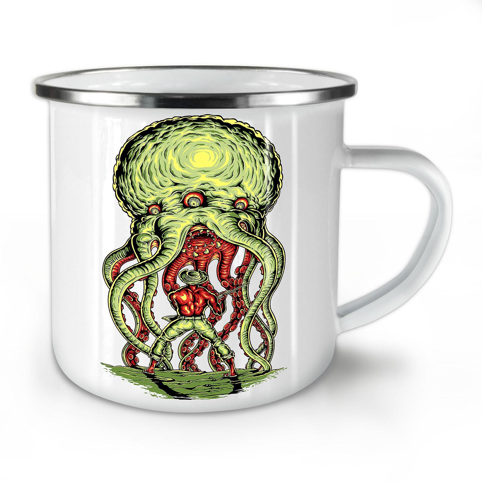 Horror Whitetea Mug10 OzWellcoda Coffee Enamel Octopus New TlJc3u5FK1