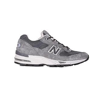 New balance women's NBW991MGG grey leather of sneakers