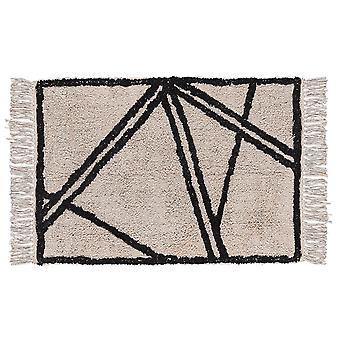 Villa collectie katoen tapijt, zwart