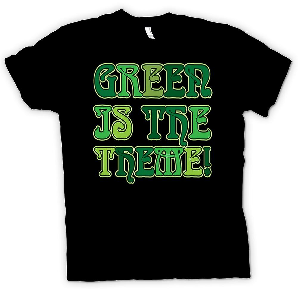 Mens T-shirt - St Patricks Day - Green Is The Theme