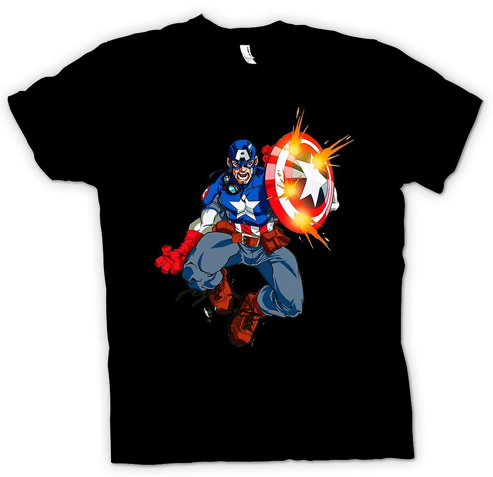 Womens T-shirt - Captain America - Comic Hero