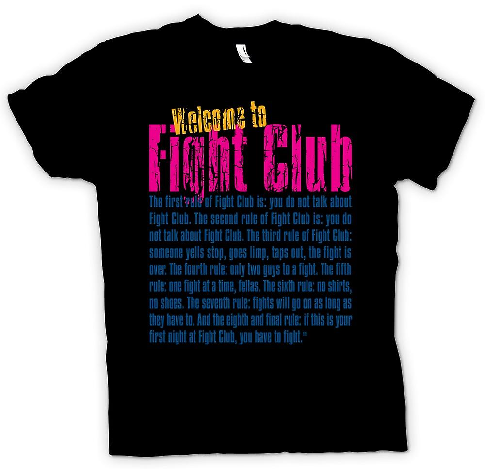Womens T-shirt - Welcome to Fight Club - Funny Quote