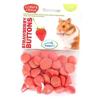 Pet piccola tratta pulsanti fragola