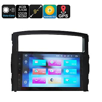 9 Inch Car Stereo One Din - Octa Core, 4+32GB, Android 8.0, GPS, WiFi, 3G Support, CAN BUS, For Mitsubishi Pajero