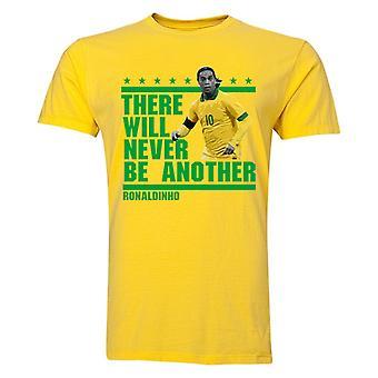 Ronaldinho-dort werden keine andere T-Shirt (gelb)