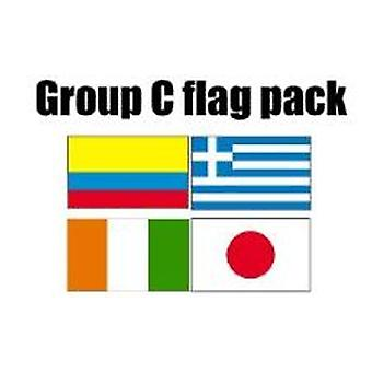 GROEP C Football World Cup 2014 vlag Pack (5 ft x 3 ft)